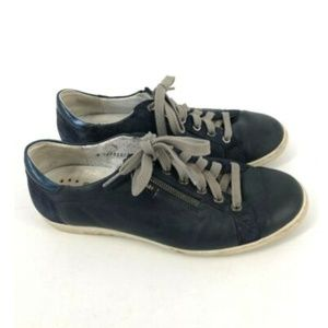 Mephisto Womens Blue Sneakers Shoes Air Relax